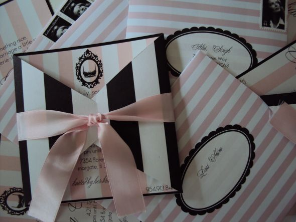 Parisian Lingerie Shower invites