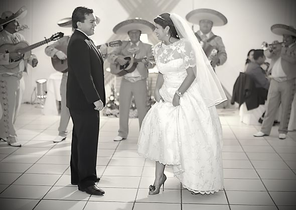 Babe, I&#039;m putting my foot down... :  wedding black mariachi reception shoes white  MG 7129