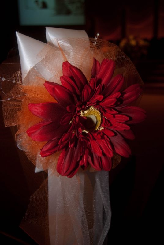 RED ORANGE AND YELLOW Gerber Daisy and Sunflower wedding and Bridal Shower