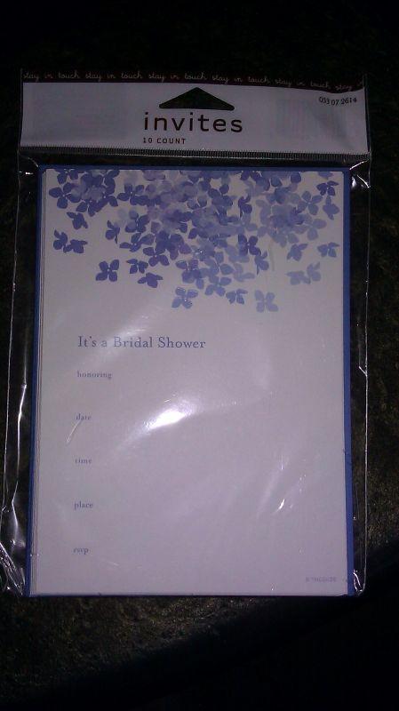 FOR SALE Bridal Shower Invites Black White Wedding Program Paper