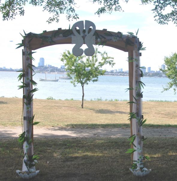Arbor Gazebo Arch Wedding decorationBeach wedding decoration beach arbor