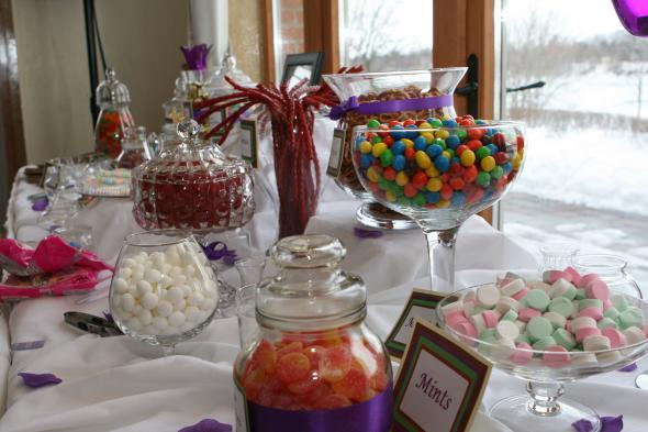 Wedding Candy Buffet Photos