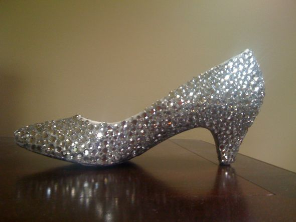 wedding bling shoes rhinestones silver inspiration diy SHOES6