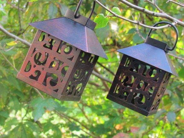 For Sale Small Brown Metal Lanterns Adorable wedding brown metal