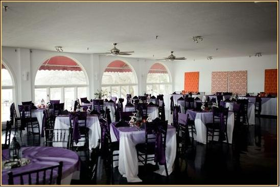 Plum Eggplant and Orange Reception Decorations wedding moroccan theme