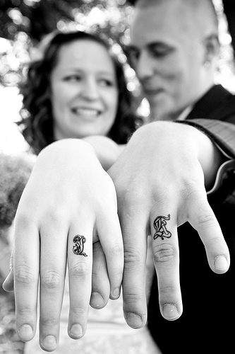 Tattooed Wedding rings PICS wedding WeddingRingTattoo