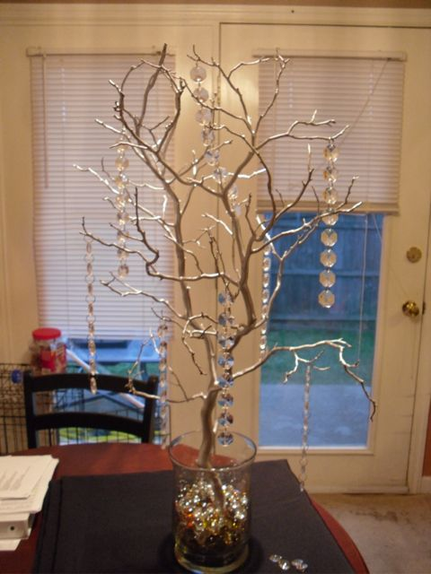 Manzanita Tree Wedding centerpieces wedding silver ceremony reception Wish