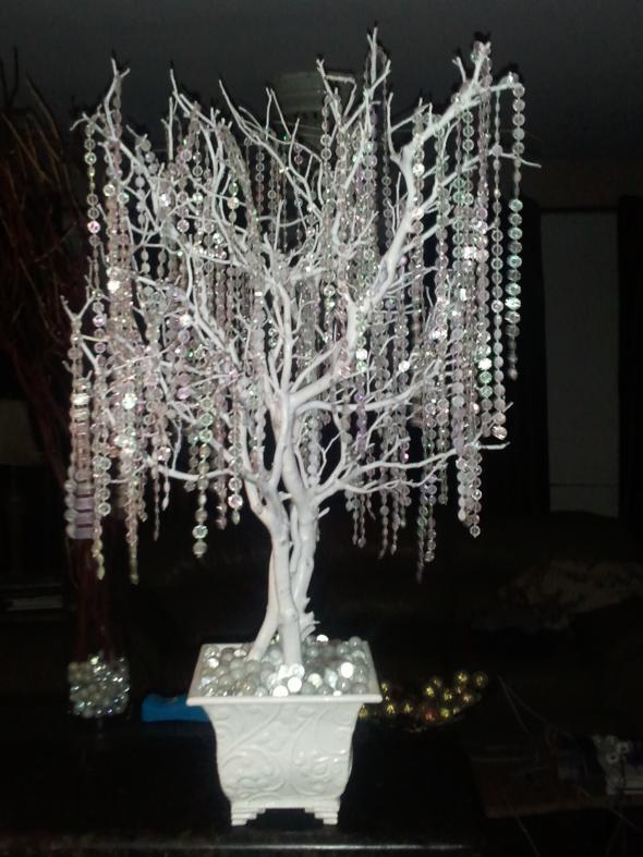 Crystal wedding trees for centerpieces! approx. 30-36 tall :  wedding inspiration Crytal Tree