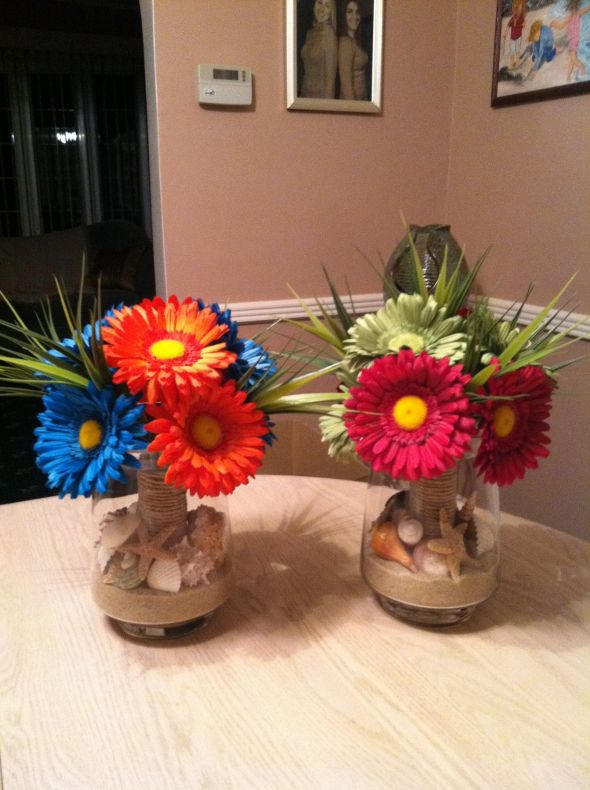 Beach theme floral centerpieces images frompo
