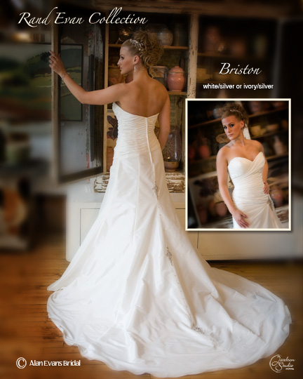 Size 6 wedding dress with a little bling wedding rand evan wedding gown