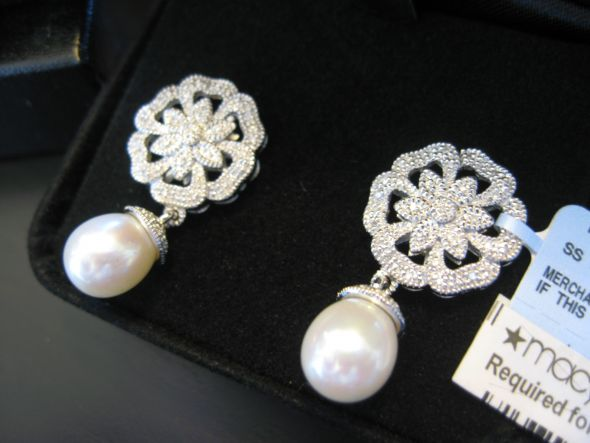 Genuine Pearl Drop Earrings Brand New wedding jewelry earrings pearl