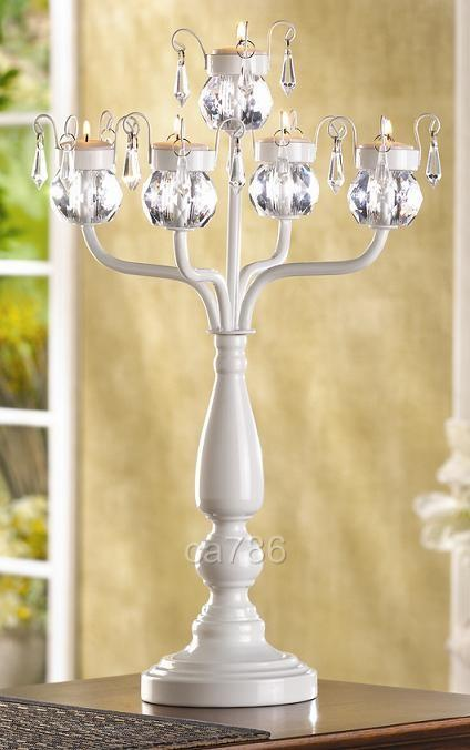 20 White candelabras for sale wedding centerpieces wedding candelabra