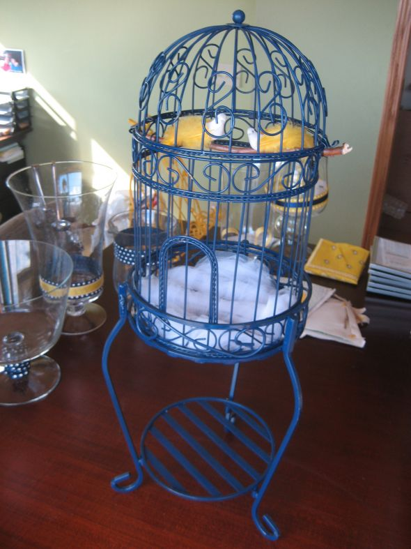 BIRD CAGES STAND CARDS