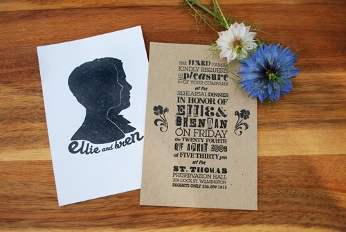 where to print invites on kraft paper