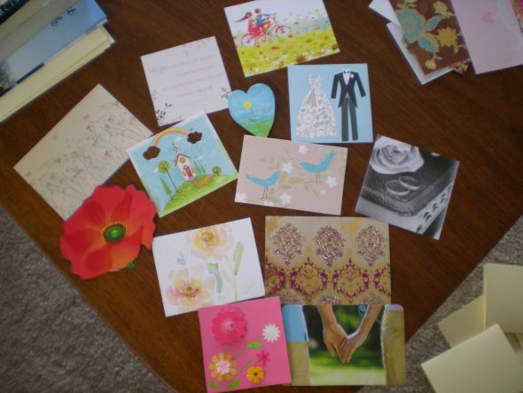 DIY Thank You Notes: reuse wedding/shower cards
