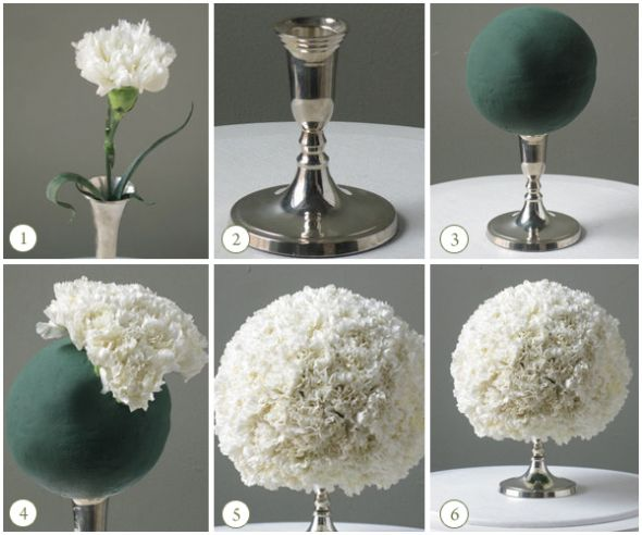 My DIY centerpieces wedding green orchids champagne hydrangea tower vases