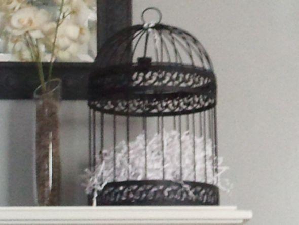Bird Cage wedding bird cage card holder black reception BIRD CAGE