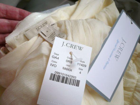 J Crew Silk Chiffon Whitney Gown 11429 4 6 Brand New w Tags