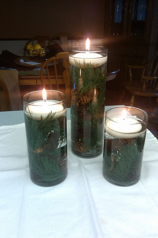 Hilary s winter wedding centerpieces