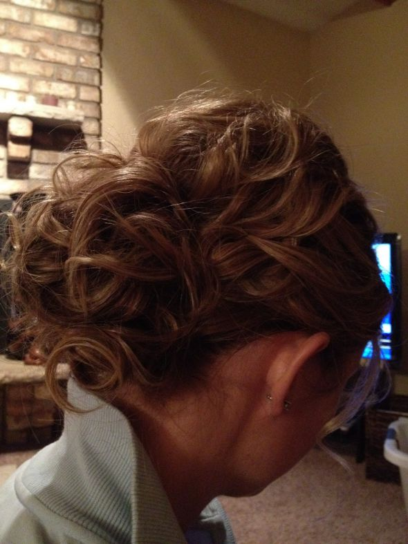 Hair Trial - keep or not to keep? :  wedding flower hair ivory trial updo Hairtrial2