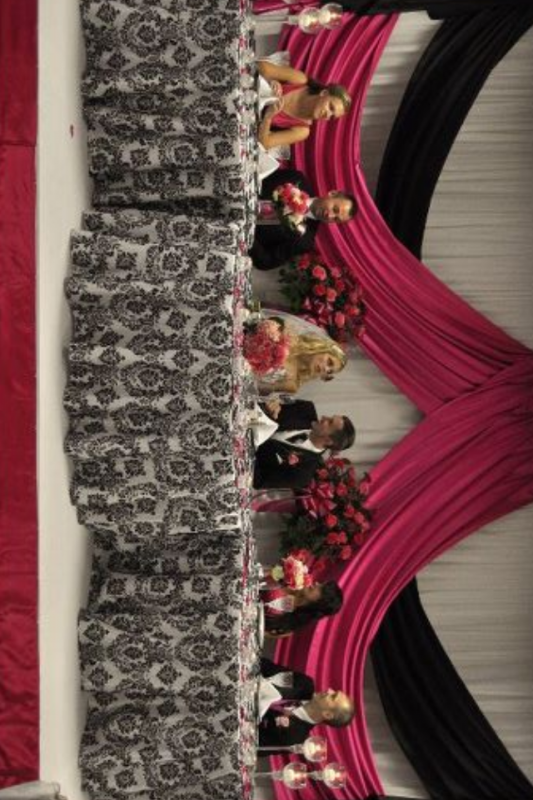 Damask Tablecloth Wedding Pictures Of Linens Red Black And White
