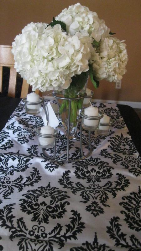 Damask centerpiece weddingbee photo gallery
