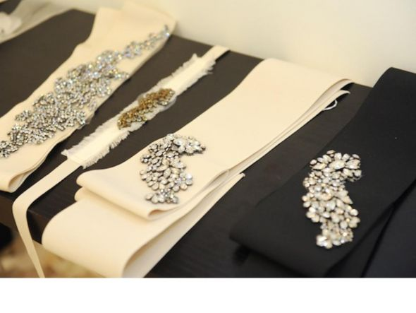 Vera Wang Crystal Applique Sash Belt wedding vera wang sash vera wang belt