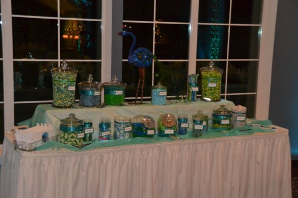 Peacock Candy Buffet