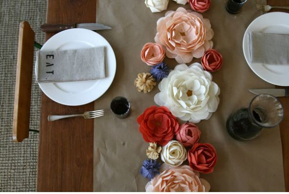 paper flower bouquets now what type of centerpieces