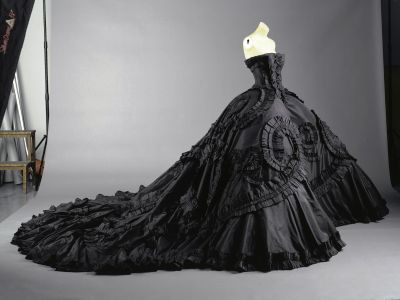 Maria Luisa Black John Galliano for Dior Elegant Black Dress wedding