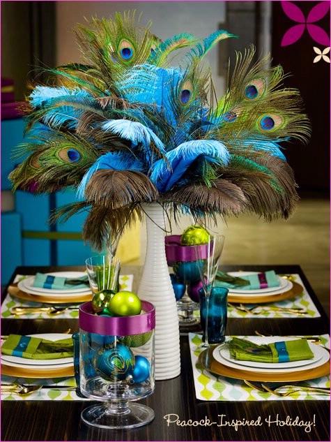Inspiration Pics wedding inspiration flowers decor peacock Photo5