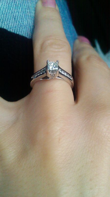 solitaire carat picture of diamond half ring princess