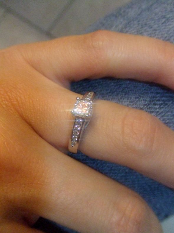 Star's brilliance :  wedding engagement engagement ring half carat 1 princess cut ring DSCF1606