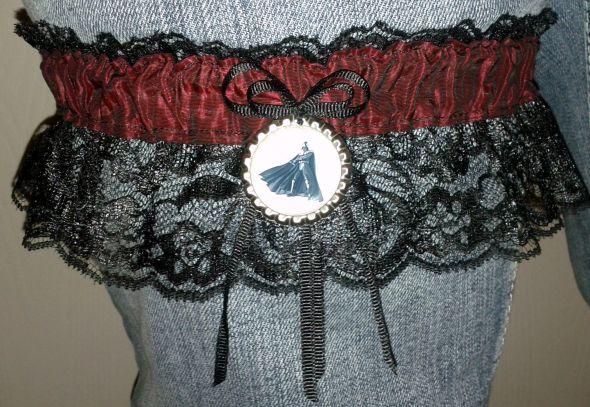 Star Wars Garter wedding star wars black and red garter lace garter black