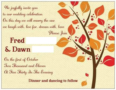Our Fall Invitations
