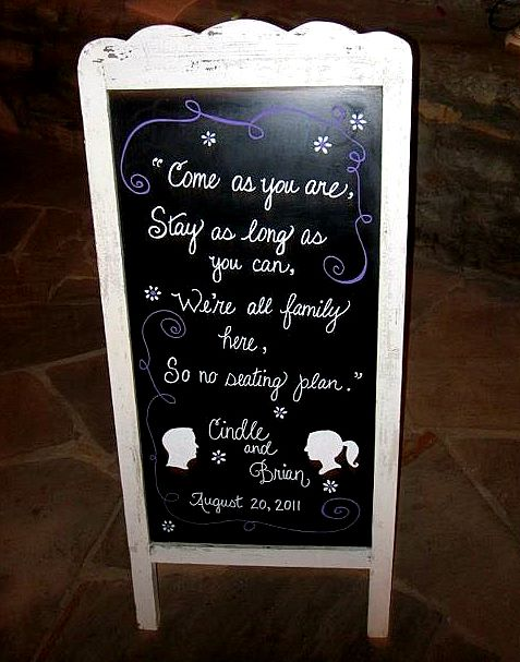 Reception sign wedding seating plan silhouette black purple white silver