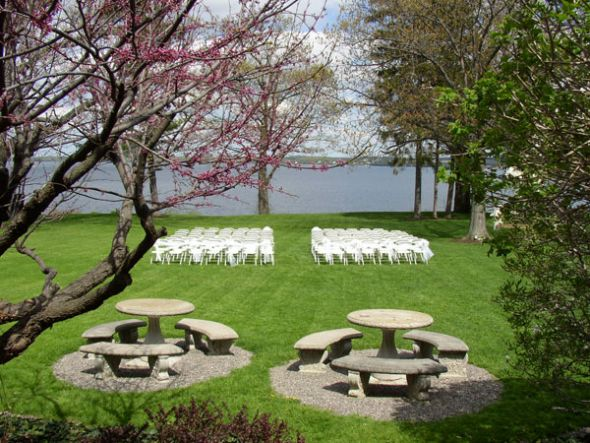 Here is the venue set up for an outdoor wedding so you 39ll see the setup