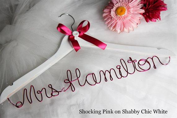 Personalized wedding dress hangers! VOTE!