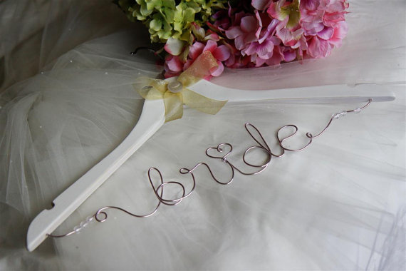 Personalized wedding dress hangers! VOTE!