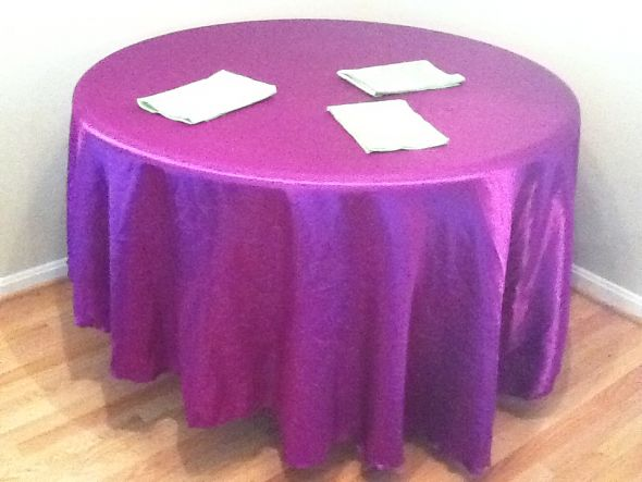 table linens TONS of wedding decor for sale purple peacock themed