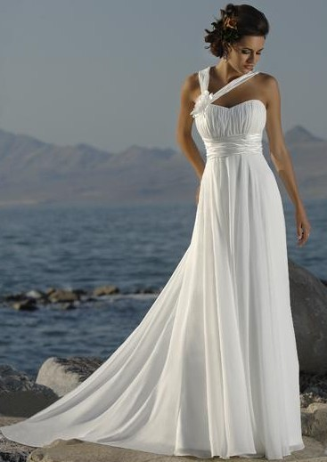 okay curvy brides let me see your beachy casual wedding gown