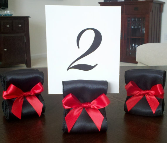 Place Card Holders and or Table Number Holders customized to your Wedding
