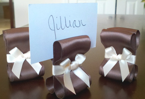 I handmake place card holders and table number holders that can be