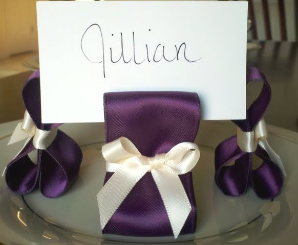 Eggplant Place Card Holders Table Number Holders wedding table number