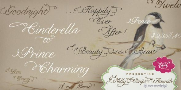 Anything similar to Nelly Script Flourish wedding font script Nelly
