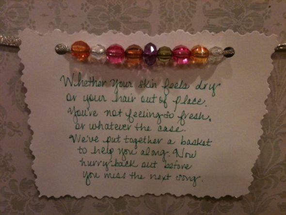 bathroom basket sayings   just b.CAUSE