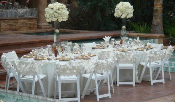 Hristina S Blog White Satin Lamour Wedding Chair Covers