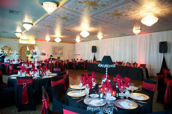 Glamorous Black Red and Damask Wedding Items for Sale wedding red black