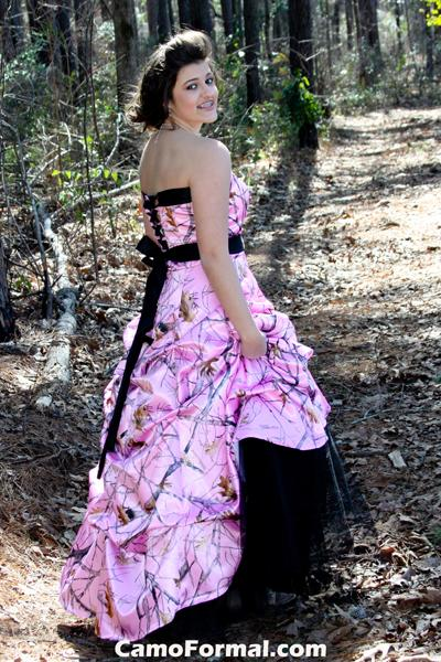 Hot Pink And Camouflage Wedding Dresses