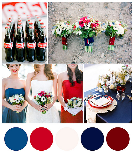 Red, White, and Blue Wedding Help